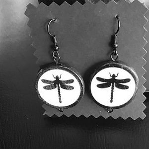 Jewelry - Dragonfly earrings! New handmade by lh!